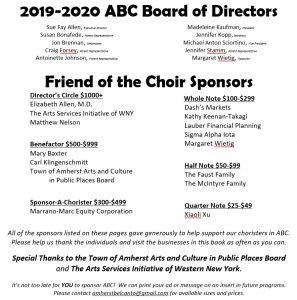 2019-20 Sponsors